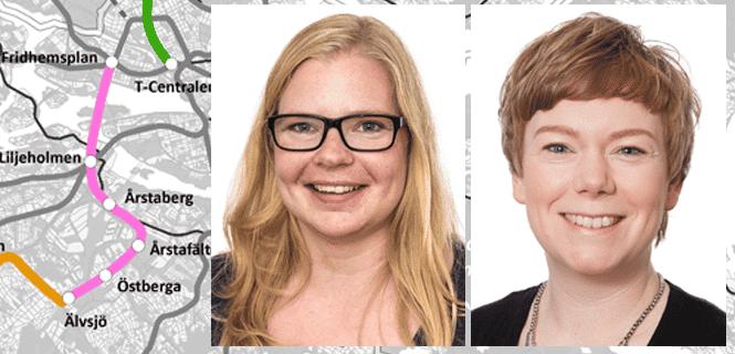Liberalernas Svanström och Danielsson prioriterar bl a Spårväg syd och utbyggd tunnelbana.